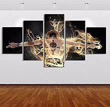 YUANJUN Framed 5 Piece Music Canvas Wall Art Image
