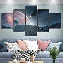 YUANJUN Outer Space Landscape5 Parts Modern