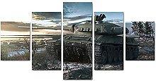 YUANJUN Tank Chariot Landscape5 Parts Modern