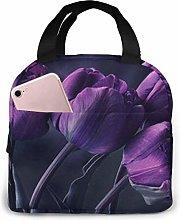 Yuanmeiju Dark Purple Tulip Flower Art Print Lunch