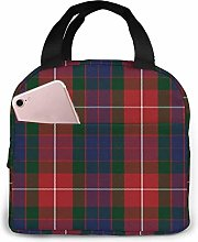 Yuanmeiju Fraser Red Tartan Lunch Bag for Women