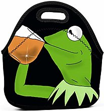 Yuanmeiju Kermit The Frog Sipping Tea Lunch Bags