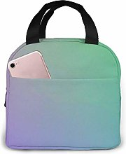 Yuanmeiju Portable Lunch Bag Blue Violet Green