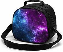 Yuanmeiju Purple Galaxy Kids Meal Bag Child Lunch