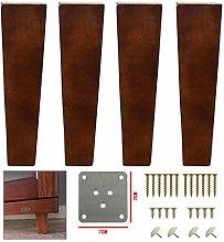 Yuany 4 Pack Solid Wood Furniture Legs,Walnut