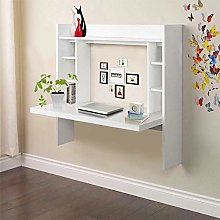 Yuanyan Wall Mounted Floating Desk With Storage