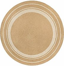 YUANZHOU Round Rug Jute Rug For Living and Bed