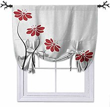 YUAZHOQI Tie Up Curtain, Floral Petals with