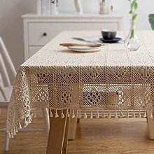 YUBIN Lace Tablecloth Vintage Rectangle Lace