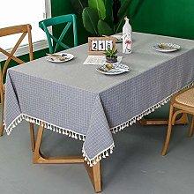 YUBIN Tablecloth Small Lattice Polyester Cotton