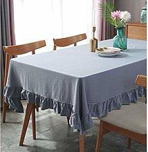 YUBIN Tablecloths Small Non Iron White Tablecloth