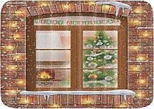 YUDILINSA Bathroom Mat Merry Christmas Xmas