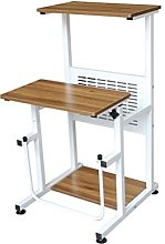 YUDIZWS Mobile Laptop Desk Sit-stand Adjustable