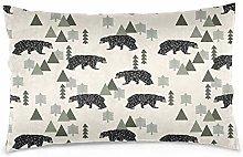 YudoHong Cotton Linen Throw Pillow Case Cushion