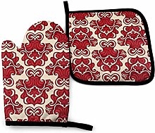 YudoHong Oven Mitts and Pot Holders Sets Damask