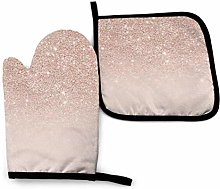 YudoHong Oven Mitts and Pot Holders Sets Rose Gold