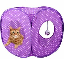 YUEBAOBEI Cat Tunnel, Foldable Pop-Up Cat Cube