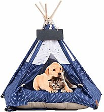 YUEBAOBEI Pet Tent with Cushion, House for Dog And