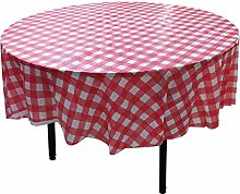 YUEKUI Round Disposable Plastic Tablecloth 84