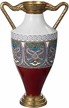 YUESFZ Ceramic Vase With Ethnic Hand-painted,