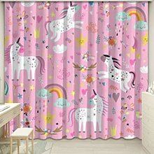 yug Curtain pink princess style girl bedroom