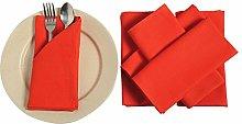 YUGA Plain Dinner Napkins Set 100% Cotton Table