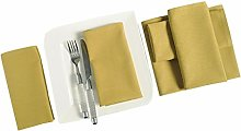 YUGA Plain Dinner Napkins Set 100% Cotton Table