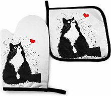 yui7 Collection of Tuxedo Cat Cliparts Oven Mitts