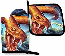 yui7 Fashion Colorful Snake Attack Oven Mitt and