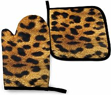 yui7 Fashion Leopard Prints Oven Mitt and Pot