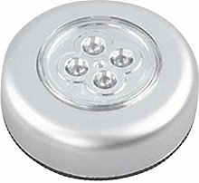 YUIO 4 LED Control Night Light Round Lamp Under