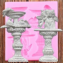YUIOP Fountain Fondant Molds Bird Silicone Mould