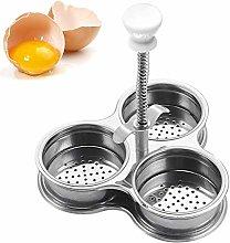 YUIP Egg Poacher, Egg Boiler Cooker, Silver Egg