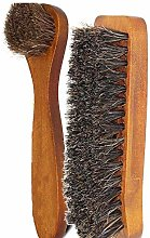 YUJIAN 2 Pieces Horsehair Shoes Polish Brushes