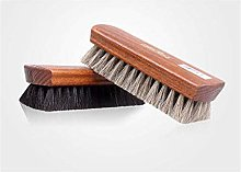 YUJIAN Horsehair Shoe Brush, Shoe Shine Brushes,