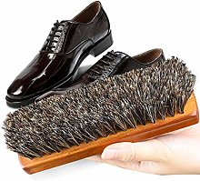 YUJIAN Shoe Brush - Horsehair Shoe Brush -