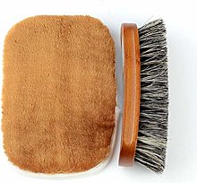 YUJIAN Shoe Brush Kit Natural Horsehair Bristles