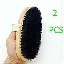 YUJIAN Shoe Brush Kit with 100% Pig Bristles Shoe