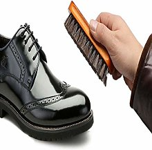 YUJIAN Shoe Shine Brush, 100% Soft Horsehair &