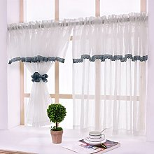 Yujiao Mao 1-Pack Rural White Window Curtain