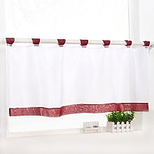 Yujiao Mao 1Pc Tab Top Short Curtain Semi Sheer