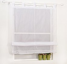 Yujiao Mao 1Pcs Slot Top Roman Curtain Blinds