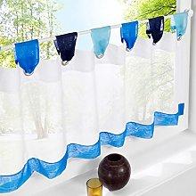 Yujiao Mao 1pcs Tab Top Semi Sheer Cafe Curtain