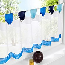 Yujiao Mao 1pcs Tab Top Semi Sheer Cafe Curtain