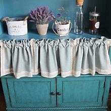 Yujiao Mao Cafe Curtains Long Kitchen Curtain