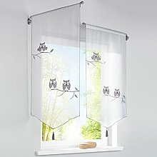 Yujiao Mao Cafe Curtains Triangle Hem Small Window