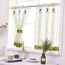 Yujiao Mao Pastoral Art Panel Curtain Linen Yarn