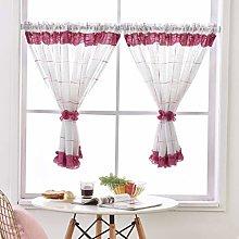 Yujiao Mao Pastorale Art Net Curtain Linen Yarn
