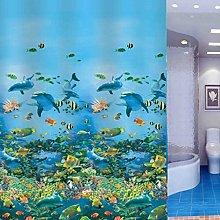 Yujiao Mao Sea World Printed Waterproof Shower