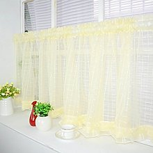 Yujiao Mao Slot Top Voile Cafe Curtains Kitchen